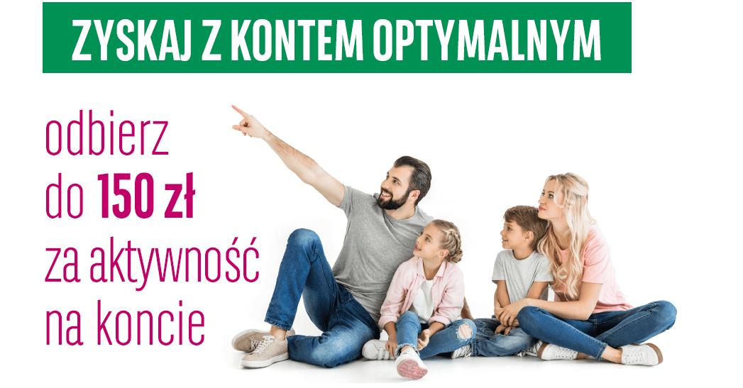 150 zł za założenie Konta Optymalnego (+200 zł dla najszybszych!)