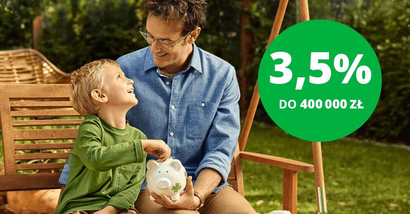 3,5% na koncie oszczędnościowym w Getin Bank aż do 400 tysięcy złotych!