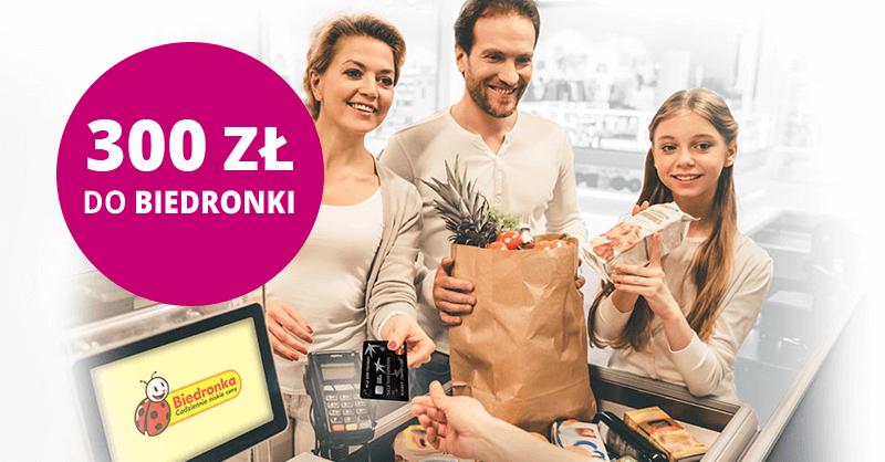 300 zł do Biedronki za kartękredytową BGŻ BNP Paribas