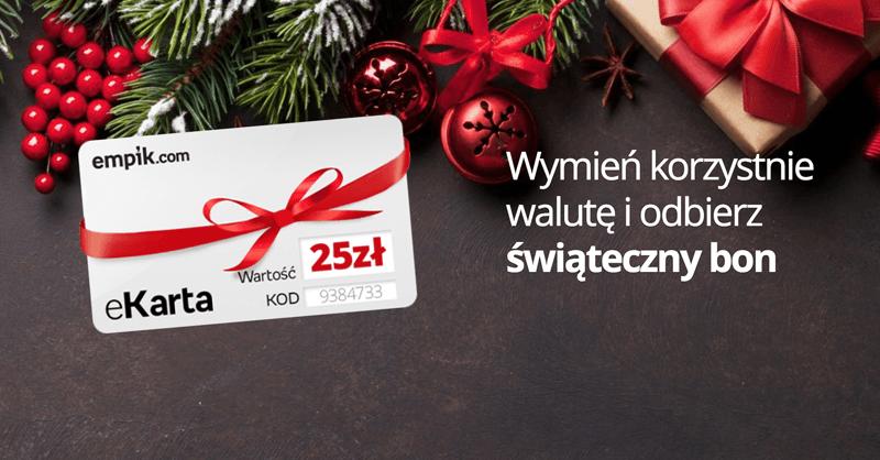 25 zł w bonie do empik.com za wymianę walut w Internetowykantor.pl