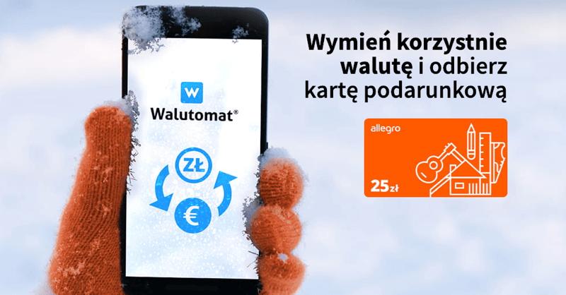 25 zł w bonie Allegro za wymianę walut na Walutomat.pl