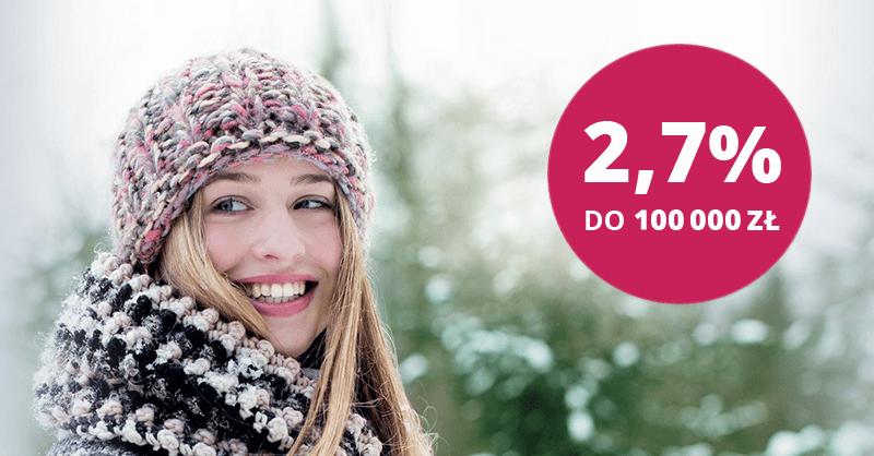 Konto Oszczędnościowe Banku Millennium - 2,7% do 100 000 zł