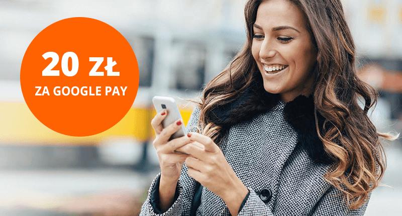 20 zł premii za płatności Google Pay dla obecnych klientów ING BankuŚląskiego