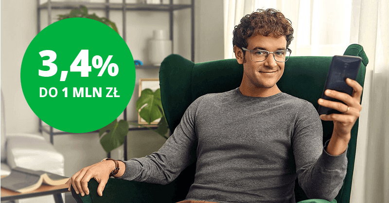 3.4% na e-Lokacie na nowe środki w Getin Banku
