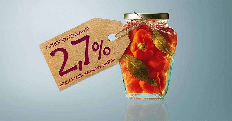2,7% za założenie konta Mocno Oszczędnościowego Alior Banku do 100 000 zł na 3 miesiące