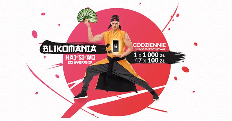 BLIKomania - loteria z wygraną do 100 000 zł