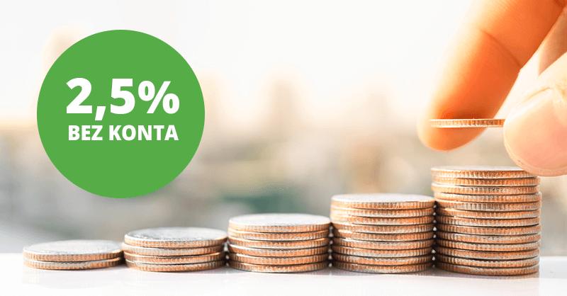 e-Lokata na plusie w BOŚBanku z oprocentowaniem 2,5% w skali roku