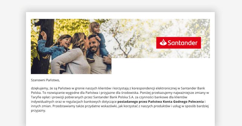 Zmiana opłat w Santander od lipca 2019 - Konto Godne Polecenia
