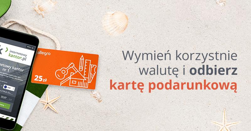 25 zł w bonie Allegro za wymianę walut w Internetowykantor.pl