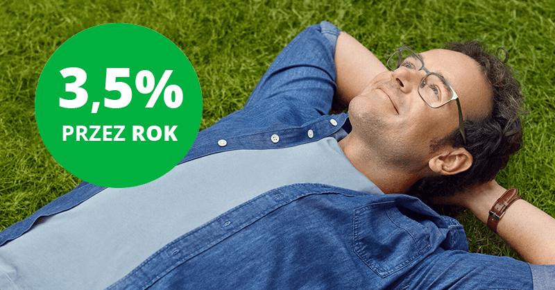 3,5% przez rok na koncie oszczędnościowym w Getin Banku