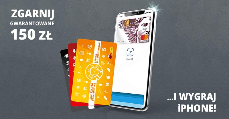 150 zł za założenie konta w Alior Banku i możliwość wygrania iPhone lub bonów do Biedronki