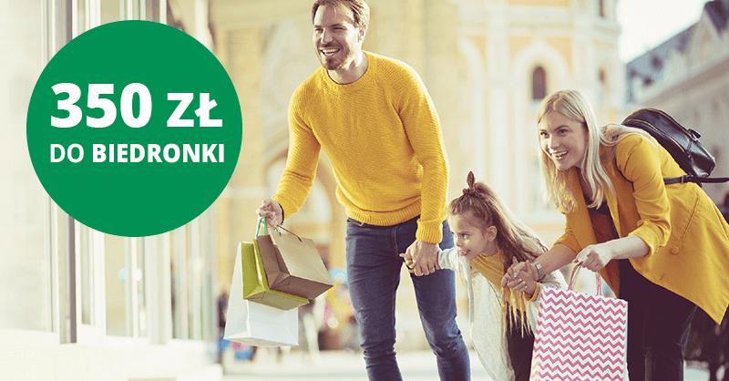 HIT! 350 zł do Biedronki za założenie darmowego Konta Otwartego na Ciebie od BNP Paribas