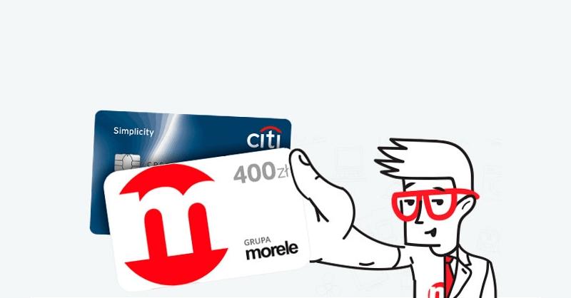 400 zł do Morele.net za kartę kredytową Citibanku