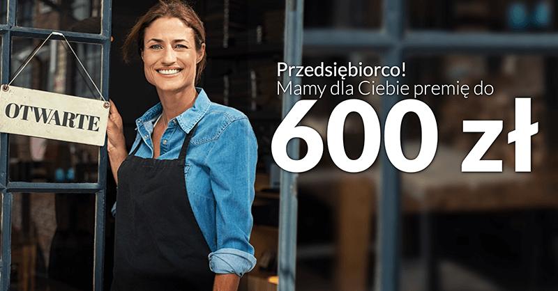 600 zł premii za założenie Konta Przekorzystnego Biznes od Pekao S.A.