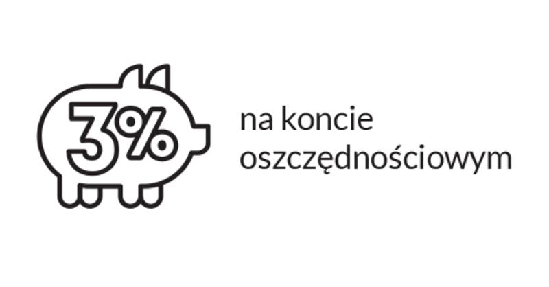 3% na koncie oszczędnościowym