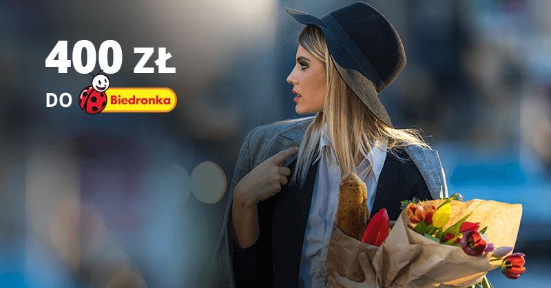 400 zł do Biedronki za kartękredytową BNP Paribas