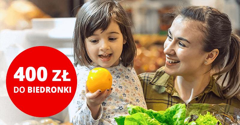 400 zł do Biedronki za darmowąkartęCiti Simplicity od Citibanku