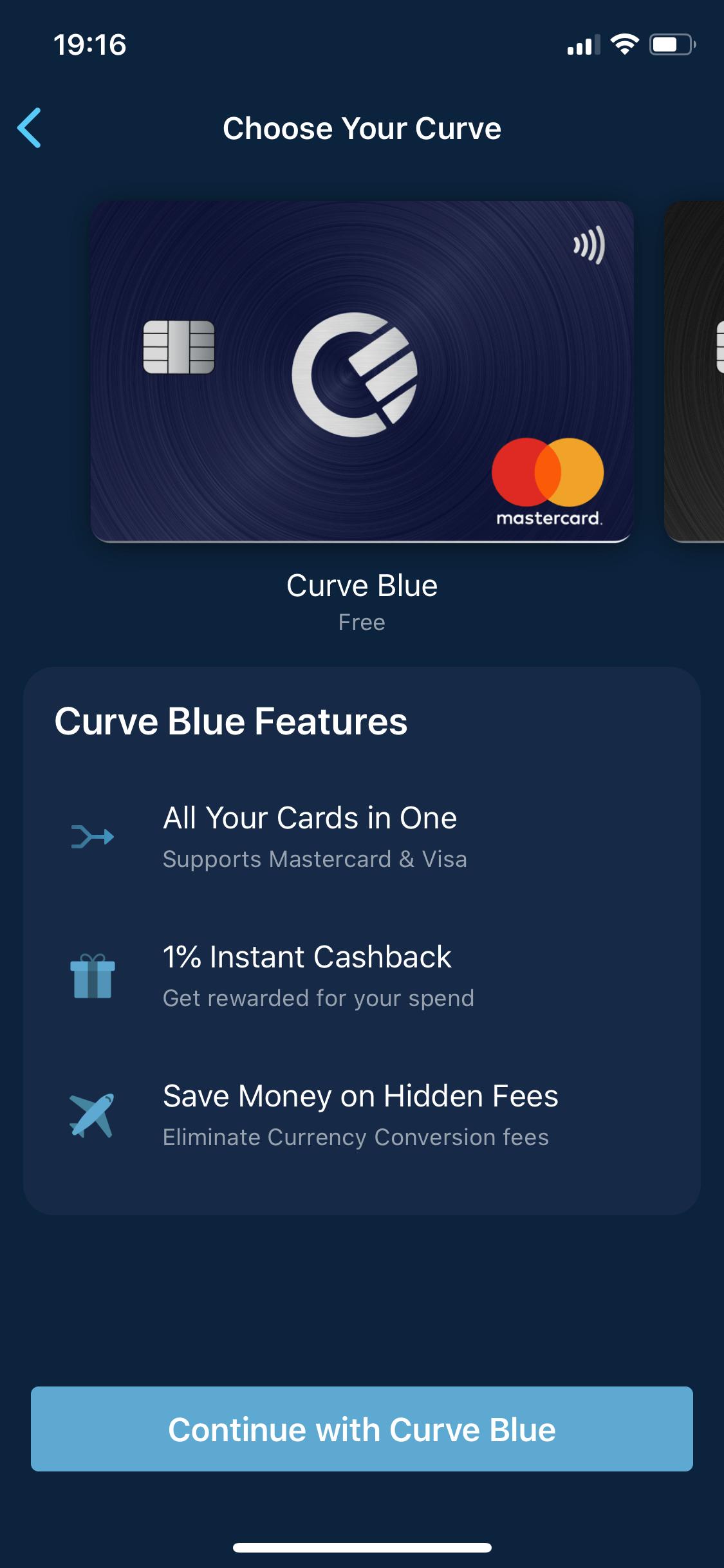 Curve - którą kartę wybrać Blue czy Black?