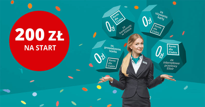 200 zł na start za Konto dla Ciebie od Credit Agricole