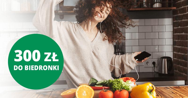 300 zł do Biedronki za założenie Konta Otwartego na Ciebie od BNP Paribas
