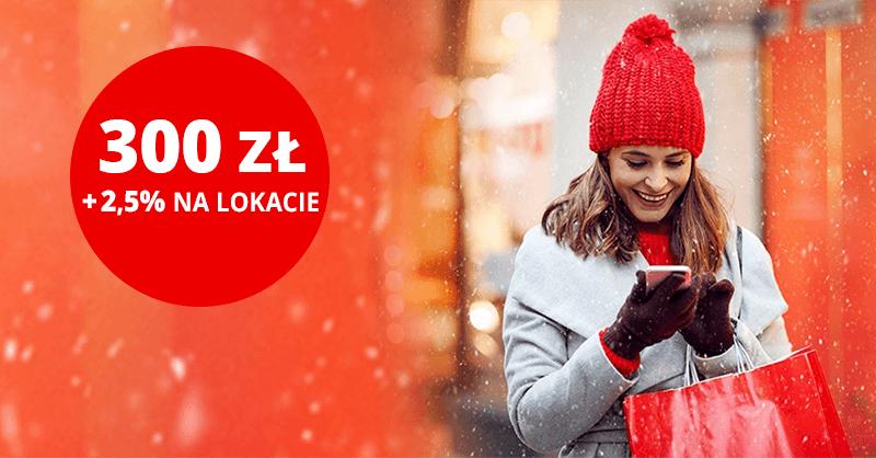 2,5% na lokacie + 300 zł za konto w Santander