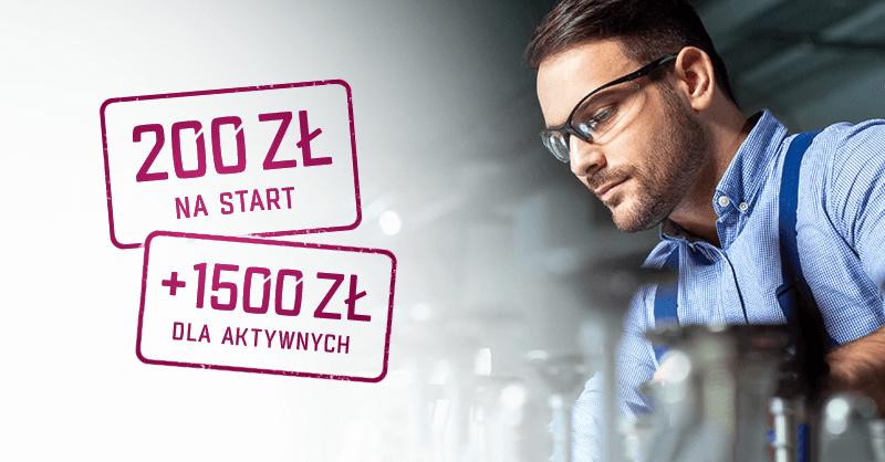 200 zł za założenie konta firmowego w Alior Banku + do 1500 zł za aktywność