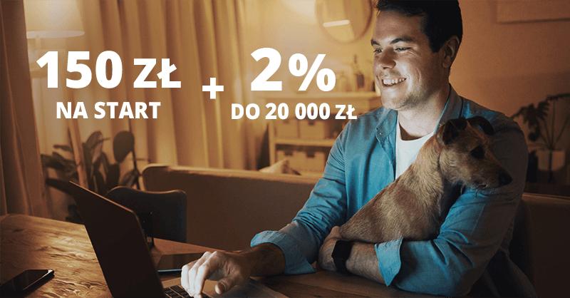 150 zł premii w Pekao S.A. + 2% na koncie oszczędnościowym