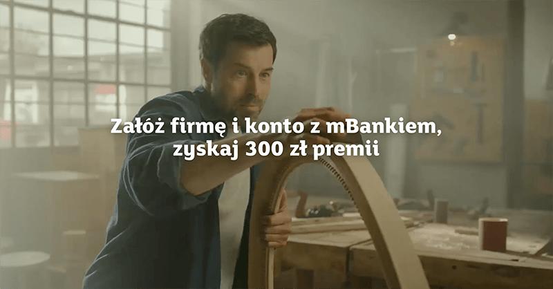 300 zł za założenie mBiznes Konta Standard + 12 miesięcy bez opłat
