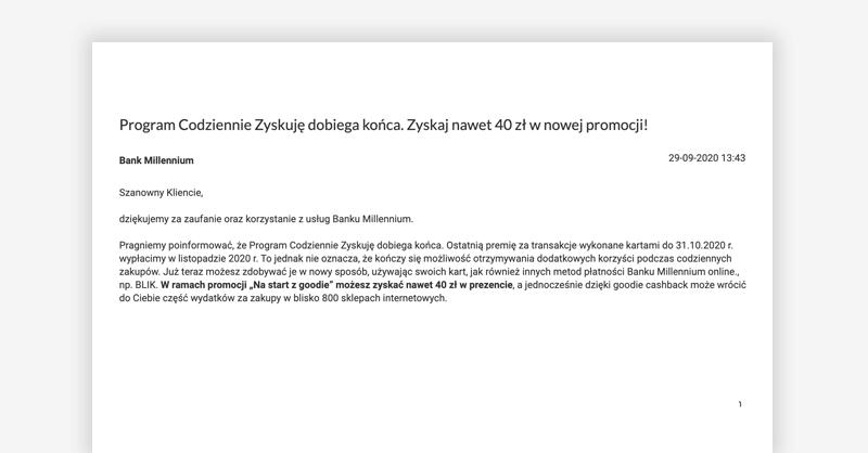 """Koniec 5% moneybacku w ramach programu """"Codziennie Zyskuję"""""""