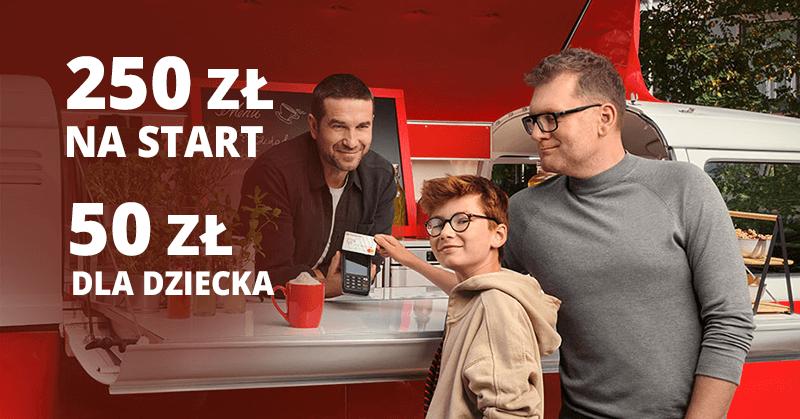 250 zł za założenie Konta Jakie Chcę oraz 50 zł za konto dziecka (+1,5% na lokacie i 1% moneybacku)