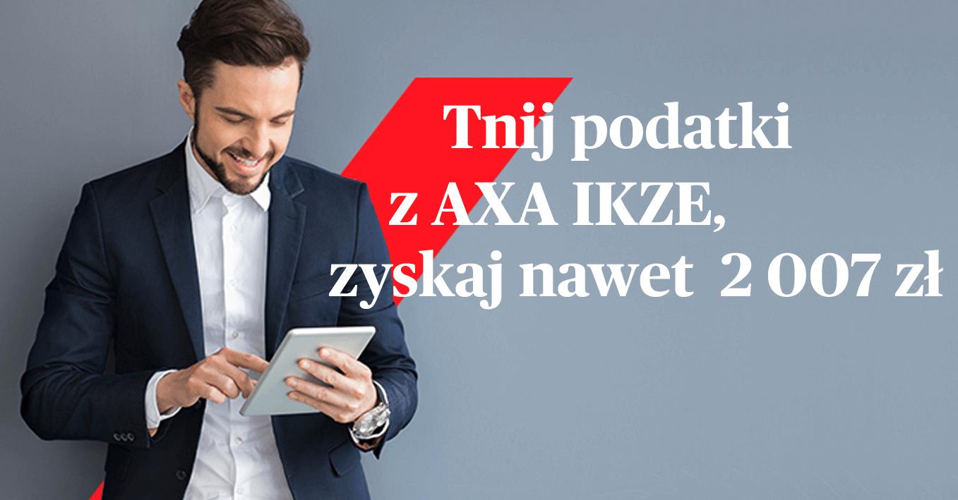 200 zł za otwarcie Indywidualnego Konta Zabezpieczenia Emerytalnego w AXA TFI + do 2007 zł oszczędności na podatku!