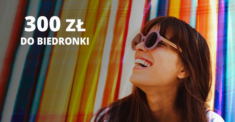 300 zł do Biedronki za wyrobienie karty kredytowej Citi Simplicity
