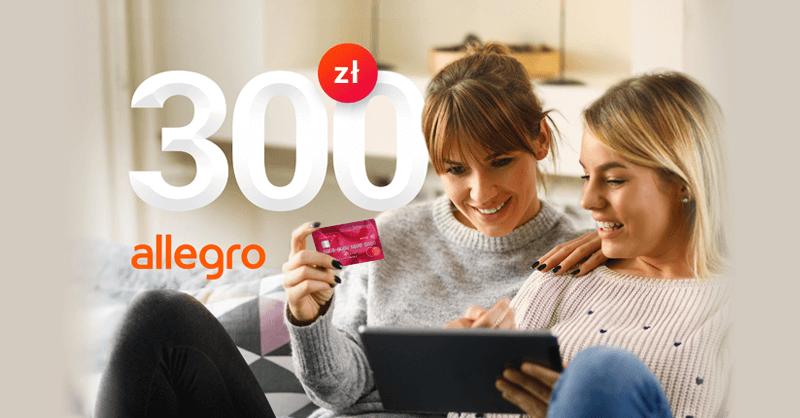 300 zł za wyrobienie karty kredytowej Banku Millennium do wykorzystania na Allegro + do 760 zł moneybacku + 220 zł za konto osobiste