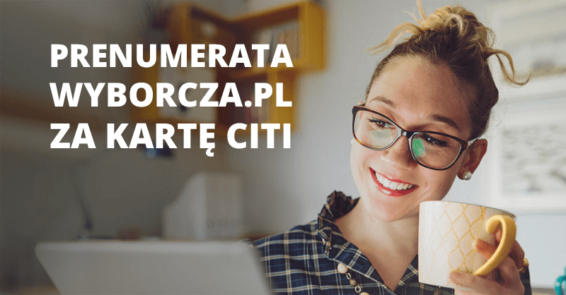 2-letnia prenumerata Wyborcza.pl premium za kartę kredytową Citi Simplicity
