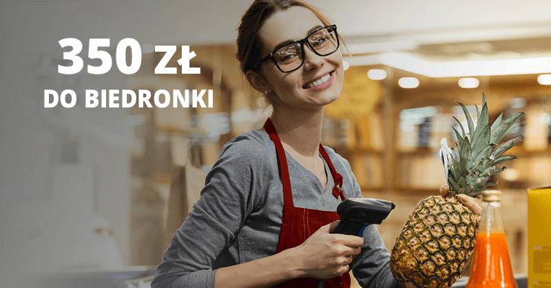 350 zł premii do Biedronki od BNP Paribas