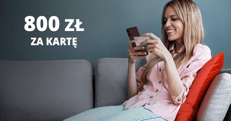 800 zł za kartą kredytową Santander Bank Polska