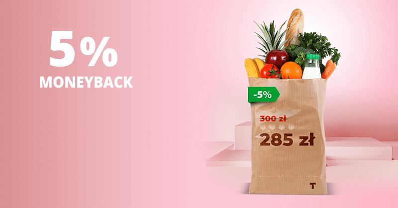 Twisto: 5% moneybacku od transakcji kartą w sklepach spożywczych