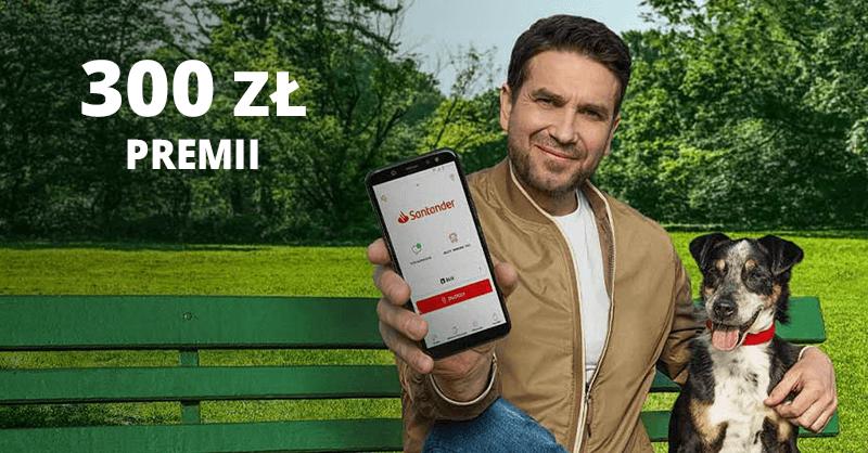 Aż 300 zł za założenie Konta Jakie Chcę w Santander Bank Polska + 1% moneybacku od rachunków + aż 800 zł za kartę kredytową