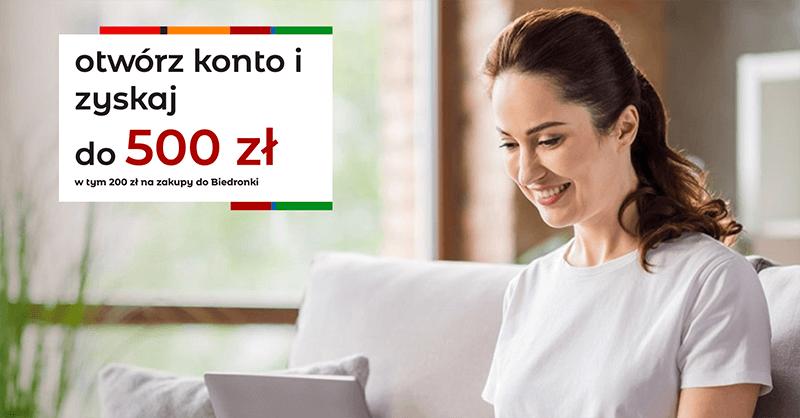 500 zł premii za założenie eKonta od mBanku