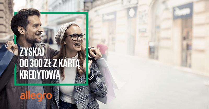 Do 300 zł na Allegro za kartę kredytową mamBonus + rok bez opłat od BNP Paribas